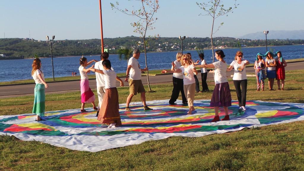 Presentación  pública de  la Danza del  Vajra en Carlos Paz