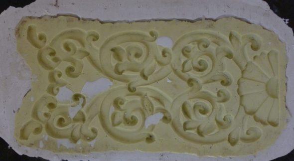 uno de los moldes de silicona