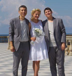 Casamiento :  Yeshi S. Namkhai y Daria Mikhaylova