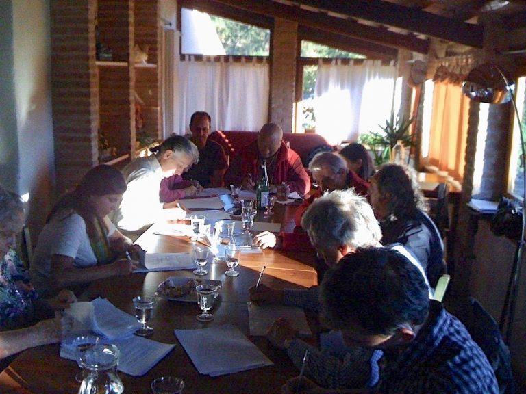 El nacimiento de la CDI, Septiembre 2012, en Merigar West