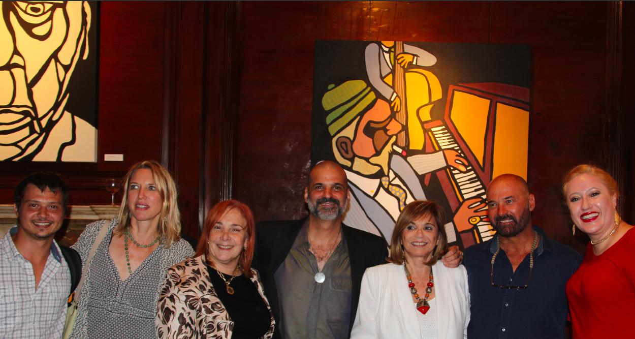Inauguración de la exposición de arte en el Consulado de Argentina en la ciudad de Nueva York
