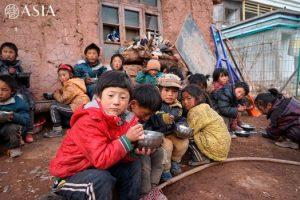 La escuela Wakha – No les gusta comer afuera
