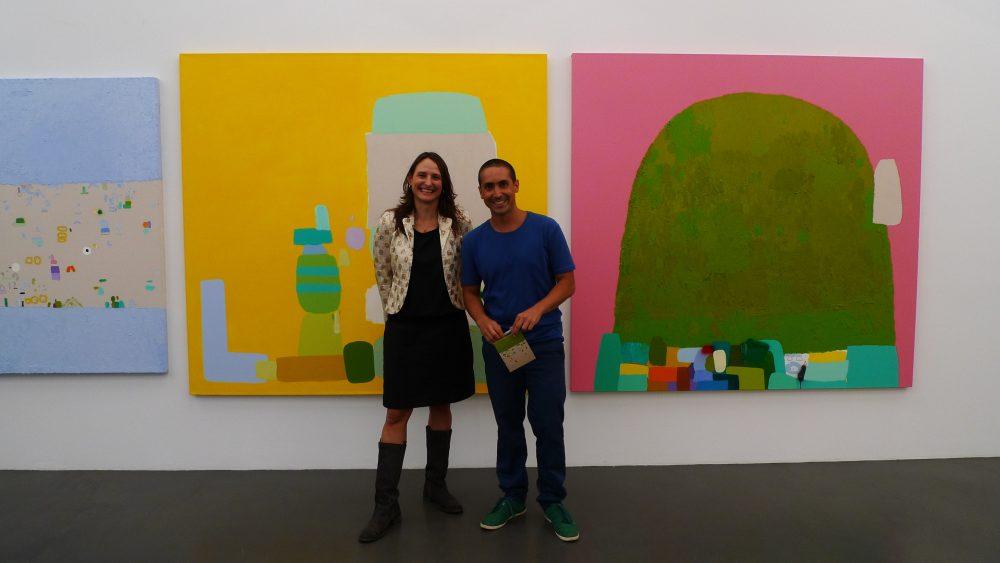 Con Gloriana (Titi) en la apertura de mi exhibición en Sies + Hoeke Galerie en Düsseldorf , Alemania, en 2009