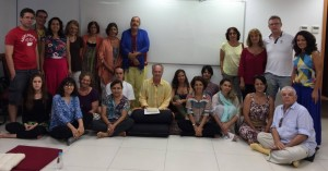 Santi Maha Sangha con Steve Landsberg en Río de Janeiro