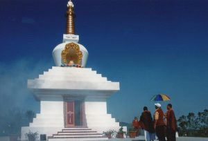 La construcción de la Gran Stupa en Merigar Oeste